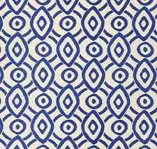 WILLIAM YEOWARD DESIGNERS GUILD FABRIC VALENTINA INK EMBROIDERED LINEN 1m PIECE