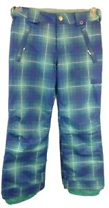 Burton DryRide Insulated Snowpants Blue & Teal Youth Large 10/12 Regular