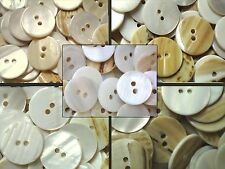 15mm 18mm 20mm 23mm 25mm Ivory Agoya Shell Natural Neutral Craft Button W99-W103