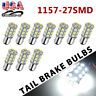 10x White 1157 BAY15D 27-LED Tail Brake Stop Parking Turn Signal Light Bulbs