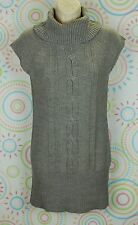 Ashley Women Cable Knit Sleeveless Cowl Neck Sweater Size L Large EUC