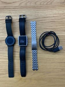 Pebble Steel 401S Smart Watch - iPhone Or Android - Excellent Condition