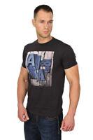 Armani Jeans T-Shirt Herren XL Schwarz Baumwolle   Logo