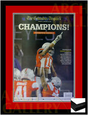 🏆Ohio State Buckeyes 2015 BCS Champions Columbus Dispatch Newspaper Framed 🏆