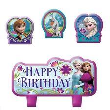 Disney Frozen Candles Cake Topper Girls Birthday Party Supplies Anna Elsa ~ 4pc