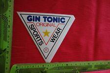 Alter Aufkleber GIN TONIC Original Sports wear