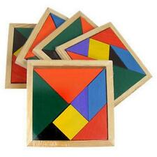 Montessori Magic Wooden 7 Piece Tangram Jigsaw Puzzle Toy IQ Recognization Game