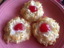 2 dozen Homemade CHERRY COCONUT MACAROON Cookies * MOIST & SOFT * Gluten Free *