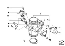 Injection Valve, 13647685373, Bmw, F650CS, G650 Xchallenge, G650Xconuntry, G650X