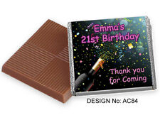 50 Personalised Chocolate Favours - Birthdays - Engagement & More, Free Postage