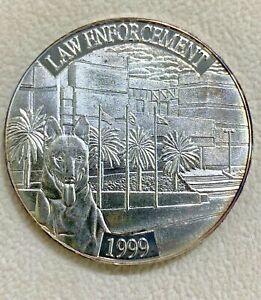 1999 National SWAT Law Enforcement .999 Silver $1 Troy Oz. Commemorative K9 Coin