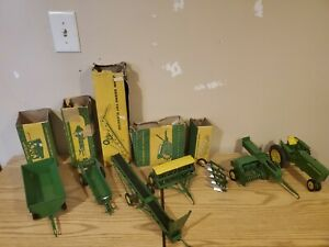 Vintage 1950s John Deere Metal Toys 7 with Boxes. In excellent condition. 1:16