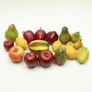 Lot of 18 Artificial Fruits Apples Pears Lemons Star Fruit