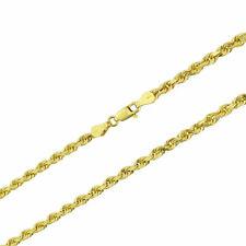 "Real Oro Amarillo 14K 1mm-5mm Soga Cadena Enlace Collar Pulsera para Hombre Mujer 7"" -32"""