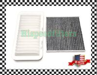 Combo Set Carbonized Cabin and Engine Air filter for Toyota Corolla Matrix