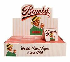 Bambu Classic Cigarette Rolling Papers 100 Booklet Packs New & Factory Sealed