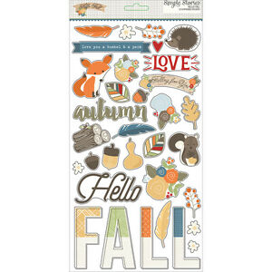 Simple Stories Hello Fall Chipboard Stickers 4384 8