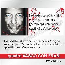 QUADRI MODERNI TELA CANVAS VASCO ROSSI ROCK POP MUSICA   120X50