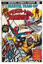 MARVEL TEAM-UP #25 (FN+) SPIDER-MAN! DAREDEVIL! Classic Bronze-Age Comic 1974