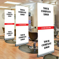 Office Hairdresser Business Screen Divider Virus Secure Banner Stand With Logo