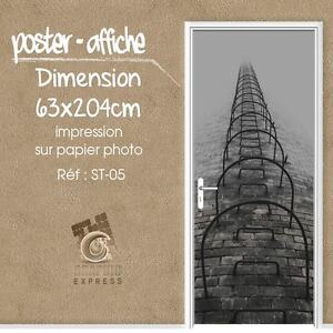 Poster Door Deco Trunk THE EYE - Staircase Scale- ST-05 - 4 Dimensions