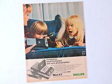 PHILIPS Mini K7 / Advert Publicidad Publicite Reklame Cassette Recorder Retro Ad