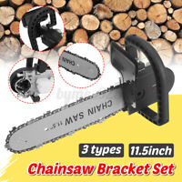Electric Chainsaw Stand Bracket Wood Cut Grinder Into Chain Saw Refit Set 11.5''