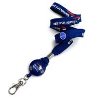 British Airways Tubular Lanyard + Badge Reel