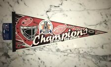DETROIT REDWINGS 1997 & 1998 STANLEY CUP CHAMPS PENNANT