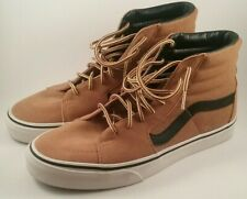 EUC Van's Hi-Top Skateboard Shoes 721454 Size 8 Tan/Black