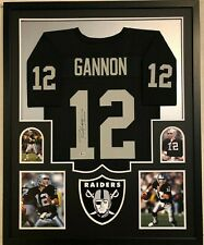 FRAMED OAKLAND RAIDERS RICH GANNON AUTOGRAPHED SIGNED JERSEY BECKETT COA