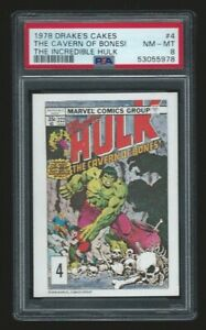 1978 Drake's Cakes Incredible Hulk #4 PSA 8 Just Graded! Tough Set!
