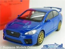 SUBARU IMPREZA WRX STI MODEL CAR 1:38 SCALE BLUE SPORTS WELLY NEX 2002 SCOOBY K8