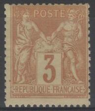"FRANCE STAMP TIMBRE YVERT N° 86 "" SAGE 3c BISTRE SUR JAUNE "" NEUF xx TB  M961"