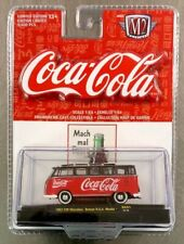 M2 MACHINE COCA-COLA 1962 VW MICROBUS DELUXE U.S.A. MODEL 1:64 SCALE FREE SHIP.