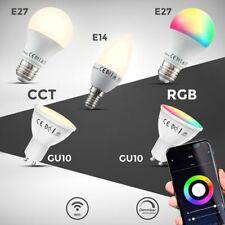 LED Smart bombilla WiFi lámpara regulable RGB cct bombilla e27 e14 gu10 Alexa googl