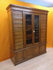 Mobile libreria archivio schedario anni 30 legno di ciliegio cassettiera