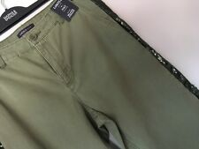 Ladies Marks and Spencer Limited Edition Khaki Jeans With Sequin Detail Size 16