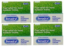 4 Pack - Benadryl Extra Strength Anti-Itch Cream - 1 oz. Each