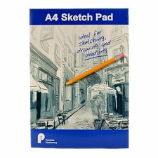 Libro De Dibujo Artista A4-Sketch Pad 100 Hojas 70 Gsm Papel de dibujo-Azul