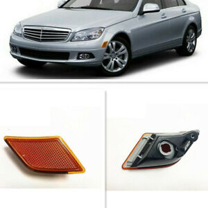 2*Side Marker Light Turn Signal Lamp Reflector For Mercedes-Benz W204 2008-2011