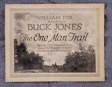 The One Man Trail Title Lobby Card BUCK JONES Western BEATRICE BURNHAM 1921