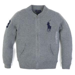 Polo Ralph Lauren Boy's Big Pony Full-Zip Cardigan Sweater - 2 colors -