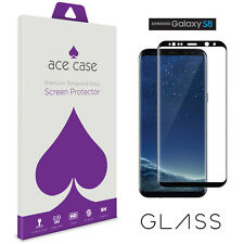 Samsung Galaxy S8 Glass Screen Protector FULL 3D Edge to Edge Coverage BLACK
