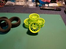 Used 1/10 Neon Green 12 Spoke Rims