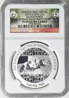 2014 CHINA PANDA 1 OZ SILVER COIN NGC PR PF 69 UC PROOF MINT MEDAL ASIA CHINESE