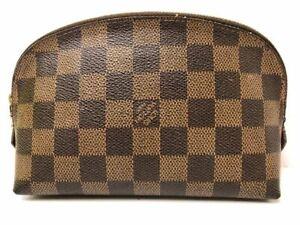 Louis Vuitton Monogram Damier Vanity Hand Bag Purse Cosmetic Pouch