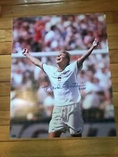 BRANDI CHASTAIN AUTOGRAPHED USA 16X20 PHOTO- STEINER