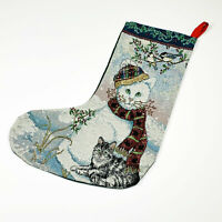 Paws for Christmas ~ Cat Tapestry Christmas Stocking