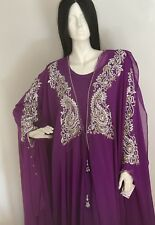 Bridal Muslim Arab Abaya Dress hijab wedding Asian Arabian Dubai modest crystals
